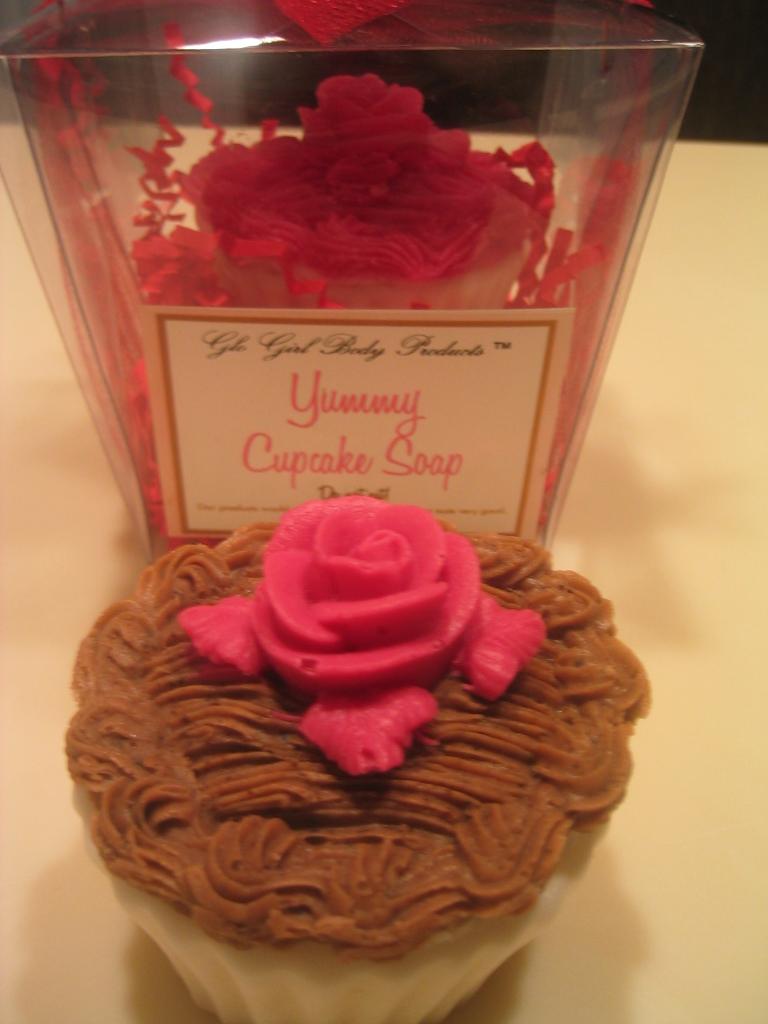 Rose Cupcake Soap 5 oz