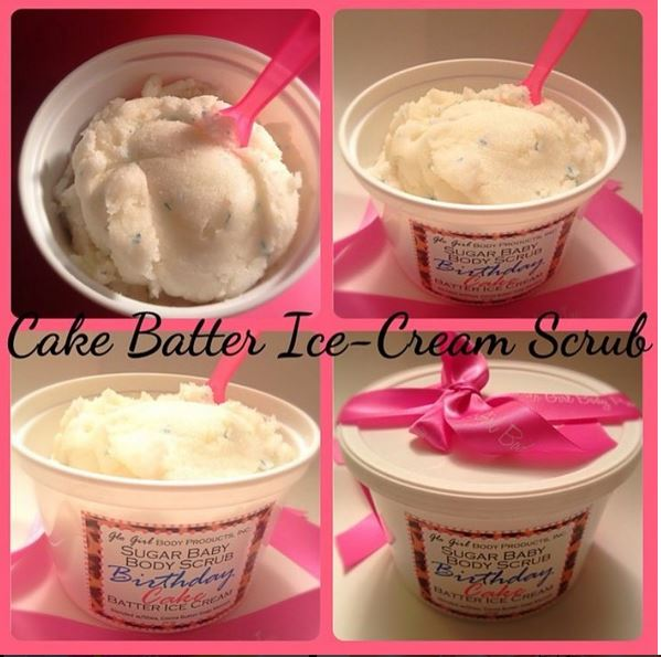 Birthday Cake Batter Ice Cream Scrub 16oz