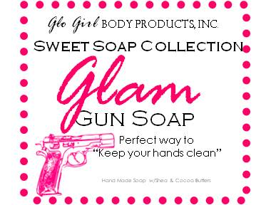 Girly Glam Gun Soap 4 pcs