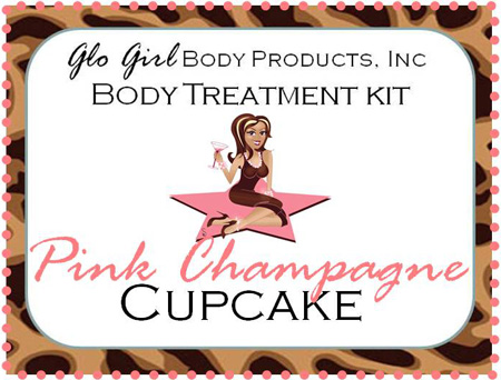 Pink Champagne Cupcake Treatment Kit  - 4 step