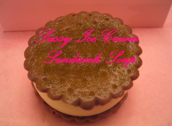 Sassy Ice Cream Sandwich Soap (NEW Improved)