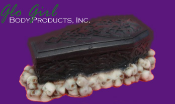 Soapy Skull Coffin Soap 5.5 oz